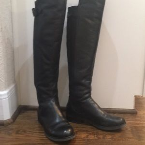 GIANNI BINI Over the Knee Leather Boots